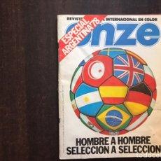 Coleccionismo de Revistas y Periódicos: ESPECIAL ARGENTINA 78. ONZE.. Lote 207045101