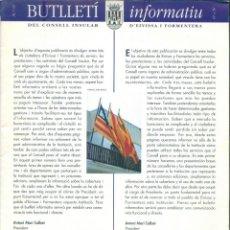 Coleccionismo de Revistas y Periódicos: NUMULITE * BUTLLETÍ INFORMATIU DEL CONSELL INSULAR EIVISSA I FORMENTERA Nº 0 ANTONI MARÍ CALBET. Lote 207045763