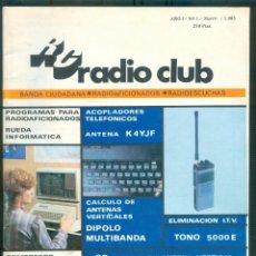 Coleccionismo de Revistas y Periódicos: NUMULITE * REVISTA RC RADIO CLUB AÑO 1 Nº 1 1985 BANDA CIUDADANA RADIOAFICIONADO RADIOESCUCHAS. Lote 207045825