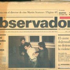 Coleccionismo de Revistas y Periódicos: NUMULITE * EL OBSERVADOR AÑO 1 Nº 1 ENTREVISTA MARTIN SCORSESE CRIMEN ORGANIZADO KREMLIN .... Lote 207046140