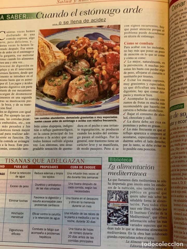 Coleccionismo de Revistas y Periódicos: Revista Cocinar Hoy, Octubre de 1994. Gran selección de platos fuertes. Nueva. - Foto 8 - 207117220