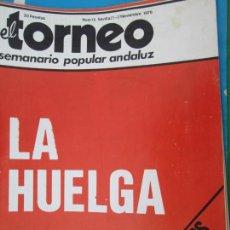 Coleccionismo de Revistas y Periódicos: TORNEO , SEMANARIO POPULAR ANDALUZ Nº 16 NOVIEMBRE 1976 - LA HUEGA - SINDICATOS UNITARIOS. Lote 207118578