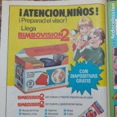Coleccionismo de Revistas y Periódicos: ANUNCIO BIMBOVISION 2 BIMBO. Lote 207118601