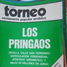 Coleccionismo de Revistas y Periódicos: TORNEO , SEMANARIO POPULAR ANDALUZ Nº 20 ENERO 1977 - LOS PRINGAOS -CALLE SAN FERNANDO SEVILLA ATENT. Lote 207119028