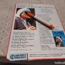 Coleccionismo de Revistas y Periódicos: MADRE TERESA DE CALCUTA RECORTE REVISTA. Lote 207141031