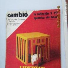 Coleccionismo de Revistas y Periódicos: CAMBIO 16 REVISTA Nº 104 -12-11-1973 - LIBERTAD PERO DENTRO DE UN ORDEN. Lote 207141731