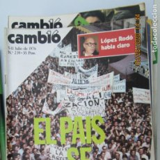 Coleccionismo de Revistas y Periódicos: CAMBIO 16 REVISTA Nº 239 - JULIO 1976 - EL PAIS SE MANIFIESTA. Lote 207142565