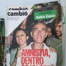 Coleccionismo de Revistas y Periódicos: CAMBIO 16 REVISTA Nº 243 - AGOSTO 1976 - AMNISTIA DENTRO DE UN ORDEN. Lote 207142735