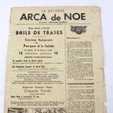 Coleccionismo de Revistas y Periódicos: LA GATZARA, ARCA DE NOE, SANTIAGO RUSIÑOL, REVISTA DE 4 PÁGINAS SIN FECHAR. 36X26CM. Lote 207185092