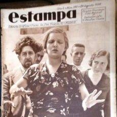 Coleccionismo de Revistas y Periódicos: ESTAMPA. REVISTA GRAFICA. AÑO 8 Nº 397 24 AGOSTO 1935 - A-REVIL-0609. Lote 207232203