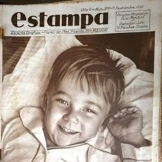 Coleccionismo de Revistas y Periódicos: ESTAMPA. REVISTA GRAFICA. AÑO 8 Nº 399 7 SEPTIEMBRE 1935 - A-REVIL-0610. Lote 207232418