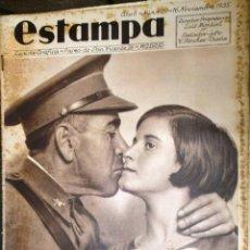 Coleccionismo de Revistas y Periódicos: ESTAMPA. REVISTA GRAFICA. AÑO 8 Nº 409 16 NOVIEMBRE 1935 - A-REVIL-0613. Lote 207232845