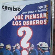 Coleccionismo de Revistas y Periódicos: CAMBIO 16 REVISTA Nº 403- AGOSTO 1979 - QUE PIENSAN LOS OBREROS. Lote 207234807
