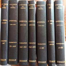 Coleccionismo de Revistas y Periódicos: O TÍO MARCOS DA PORTELA, VALENTÍN LAMAS CARVAJAL. 7 TOMOS. ORENSE, GALICIA. FACSÍMIL. Lote 207235340