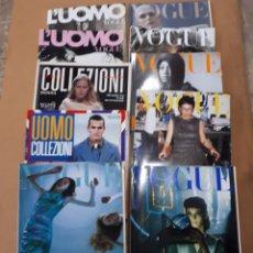 Coleccionismo de Revistas y Periódicos: MODA LOTE DE REVISTAS ITALIANAS DE MODA VOGUE , L'UOMO, UOMO COLLLEZIONI Y COLLEZIONE DONNA.. Lote 207261640