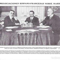 Coleccionismo de Revistas y Periódicos: 1911 HOJA REVISTA MARRUECOS NEGOCIACIONES HISPANO-FRANCESAS MINISTRO GARCÍA PRIETO, LÉO GEOFFRAY. Lote 207283547