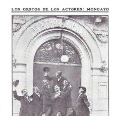 Coleccionismo de Revistas y Periódicos: 1911 HOJA REVISTA MADRID PUERTA TEATRO APOLO GESTOS DE LOS ACTORES PEPE MONCAYO. Lote 207283886