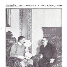 Coleccionismo de Revistas y Periódicos: 1911 HOJA REVISTA MARRUECOS CANALEJAS Y MANUEL FERNÁNDEZ SILVESTRE JEFE EN LARACHE Y ALCAZARQUIVIR. Lote 207284843