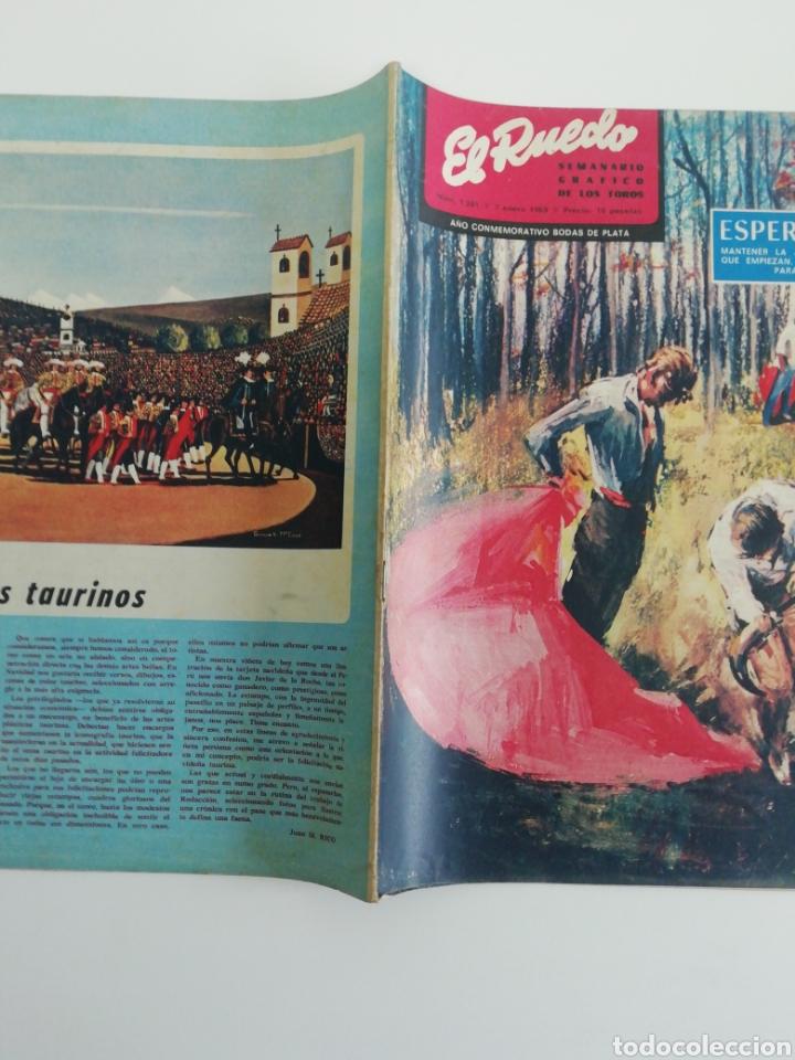 Coleccionismo de Revistas y Periódicos: Semanario EL RUEDO N°1281 ENERO 1969 - Foto 3 - 207298133