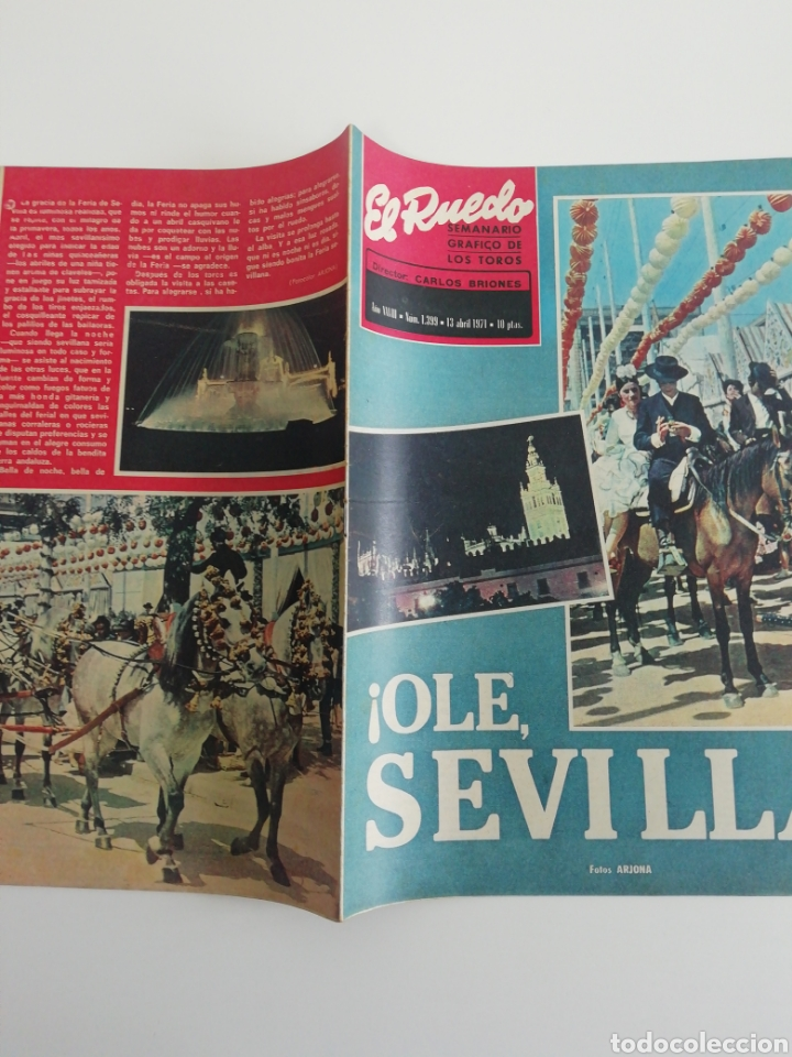 Coleccionismo de Revistas y Periódicos: Semanario EL RUEDO N°1339 ABRIL 1971 - Foto 4 - 207299860