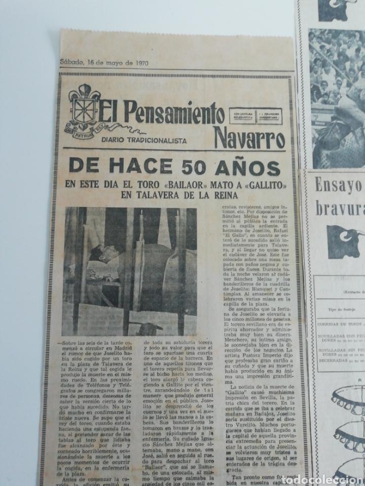 Coleccionismo de Revistas y Periódicos: Antiguos recorte de periódicos temática de toros,años (60/70) - Foto 6 - 207300453