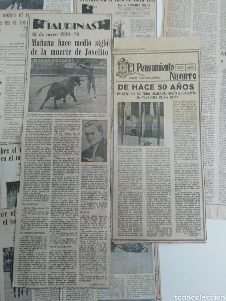 Coleccionismo de Revistas y Periódicos: Antiguos recorte de periódicos temática de toros,años (60/70) - Foto 7 - 207300453