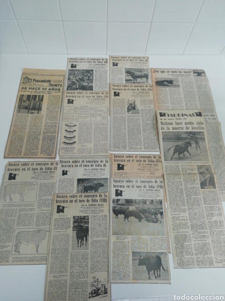 ANTIGUOS RECORTE DE PERIÓDICOS TEMÁTICA DE TOROS,AÑOS (60/70) (Coleccionismo - Revistas y Periódicos Modernos (a partir de 1.940) - Otros)