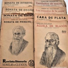 Coleccionismo de Revistas y Periódicos: LOTE 8 REVISTA LITERARIA NOVELAS Y CUENTOS DE VALLE INCLÁN - ÁGUILA DE BLASÓN, CARA DE PLATA, ETC. Lote 221435231