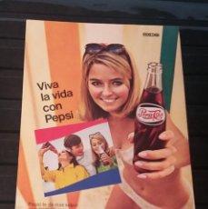 Coleccionismo de Revistas y Periódicos: HOJA PUBLICIDAD. PEPSI COLA MEXICO68. CAMARA CINE INSTAMATIC KODAK M14. (READER´S DIGEST 1968). Lote 207338363