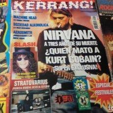 Coleccionismo de Revistas y Periódicos: LOTE 3 REVISTAS NIRVANA Y ROCK.. Lote 207338375