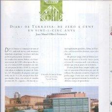 Coleccionismo de Revistas y Periódicos: DIARI DE TERRASSA: DE ZERO A CENT EN VINT-I-CINC ANYS. Lote 207344983