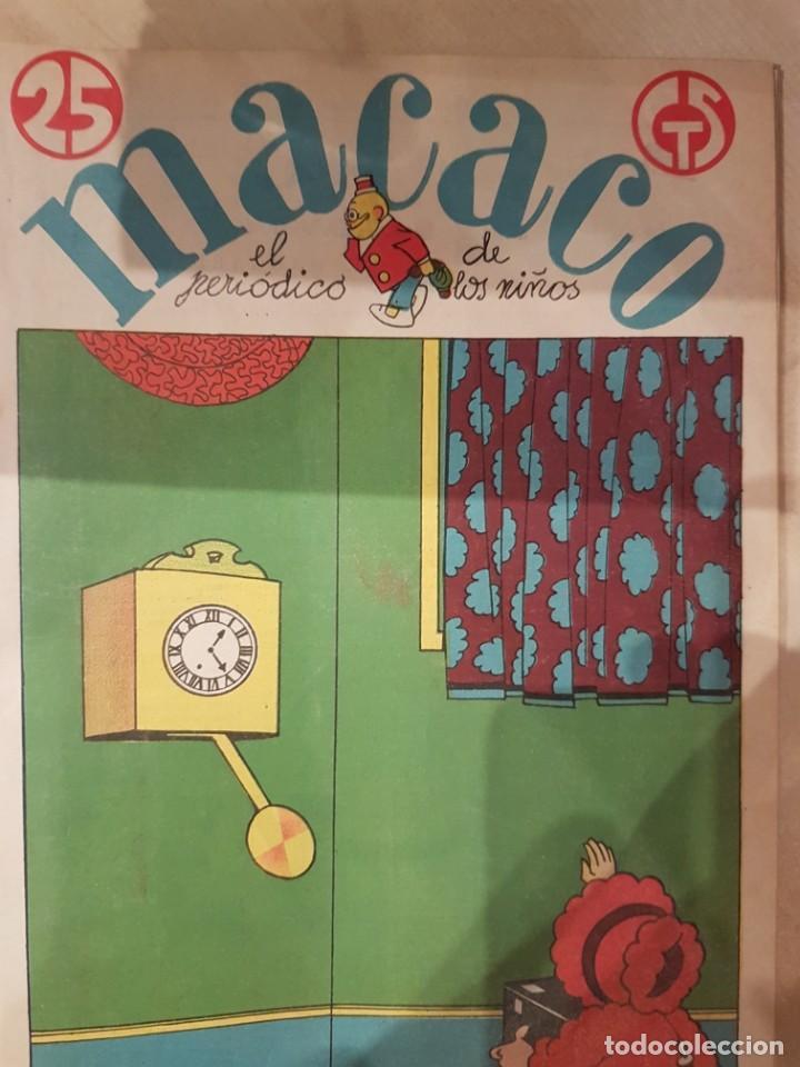 MACACO EL PERIODICO DE LOS NIÑOS 5 EJEMPLARES AÑO 1929 (Coleccionismo - Revistas y Periódicos Antiguos (hasta 1.939))