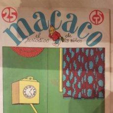 Coleccionismo de Revistas y Periódicos: MACACO EL PERIODICO DE LOS NIÑOS 5 EJEMPLARES AÑO 1929. Lote 207446863