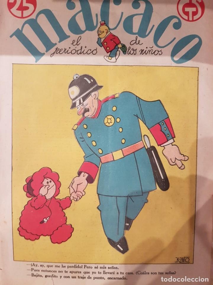 Coleccionismo de Revistas y Periódicos: MACACO El Periodico de los niños 5 ejemplares año 1929 - Foto 4 - 207446863