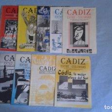 Coleccionismo de Revistas y Periódicos: LOTE 9 REVISTAS CÁDIZ ENTRE COLUMNAS BUEN ESTADO. Lote 207558337