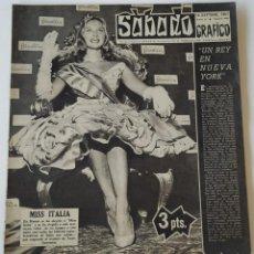 Coleccionismo de Revistas y Periódicos: REVISTA SÁBADO GRÁFICO Nº 50 MISS ITALIA CARMEN SEVILLA FRANÇOISE SAGAN CHARLES CHAPLIN SYRA MARTI. Lote 207744956