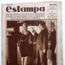 Coleccionismo de Revistas y Periódicos: ESTAMPA, REVISTA GRÁFICA Y LITERARIA. 2 DE ABRIL DE 1929, N.º 65. ORIGNAL DE ÉPOCA.. Lote 207823620