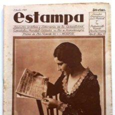 Coleccionismo de Revistas y Periódicos: ESTAMPA, REVISTA GRÁFICA Y LITERARIA. 2 DE JULIO DE 1929, N.º 77. ORIGNAL DE ÉPOCA.. Lote 207823895