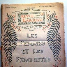 Coleccionismo de Revistas y Periódicos: REVUE ENCYCLOPÉDIQUE LAROUSSE. LES FEMMES ET LES FÉMINISTES. Nº 169. NOV. 1896 - PARIS 1896 - ILUSTR. Lote 207824545