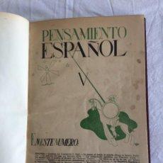 Coleccionismo de Revistas y Periódicos: EXILIO. LOTE DE 3 REVISTAS. PENSAMIENTO ESPAÑOL Y 2 LOS 4 GATOS. AGRUPACIÓN MADRILEÑISTA. 1941-46.. Lote 208065401