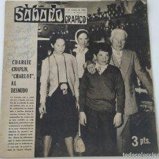 Coleccionismo de Revistas y Periódicos: REVISTA SÁBADO GRÁFICO Nº 74 CHARLES GERALDINE CHAPLIN JANE GASKELL VERA DAY. Lote 208108076