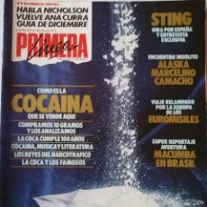 Coleccionismo de Revistas y Periódicos: REVISTA PRIMERA LÍNEA Nº 8 STING ANA CURRA MAGENTA ALASKA MARCELINO CAMACHO JACK NICHOLSON. Lote 239791615