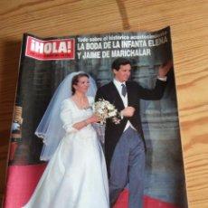 Coleccionismo de Revistas y Periódicos: REVISTA HOLA. LA BODA DE LA INFANTA ELENA Y JAIME DE MARICHALAR.. Lote 208147831