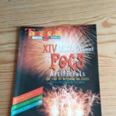 Coleccionismo de Revistas y Periódicos: XIV FOCS ARTIFICIALS TARRAGONA. Lote 208147986