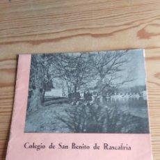 Coleccionismo de Revistas y Periódicos: COLEGIO SAN BENITO DE RASCAFRÍA 1959. Lote 208148075