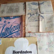 Coleccionismo de Revistas y Periódicos: PATRONES REVISTAS: EL ARTE DAYAN 1933, SUTILEZAS, BORDADOS A COLOR. JUEGOS DE CAMA, MANTELERÍAS MODE. Lote 208148102