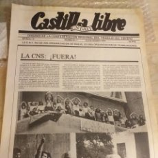 Colecionismo de Revistas e Jornais: PERIODICO CASTILLA LIBRE CNT.AIT III EPOCA NUMERO 7 JULIO-AGOSTO 1977. Lote 208667715