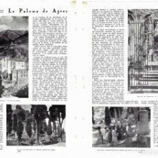Colecionismo de Revistas e Jornais: 1930 HOJAS REVISTA ALICANTE SANTUARIO MARIANO NUESTRA SEÑORA DE AGRES. Lote 208820876