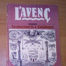 Coleccionismo de Revistas y Periódicos: L'AVENÇ. REVISTA D'HISTÒRIA 76, 1984 - LA MAÇONERIA A CATALUNYA, GEORGE ORWELL, EL BARRIO CHINO. Lote 146562046