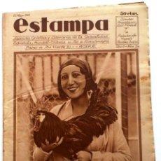 Coleccionismo de Revistas y Periódicos: ESTAMPA, REVISTA GRÁFICA Y LITERARIA. 27 DE MAYO DE 1930, N.º 124. ORIGNAL DE ÉPOCA.. Lote 209113622